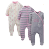 Gerber Organic cotton zip up sleep n play sleepers, 3 pack (baby girl)