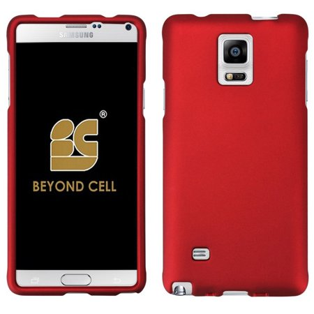NEW RED RUBBERIZED HARD SHELL CASE PROTEX COVER FOR SAMSUNG GALAXY NOTE - Red Rubberized Screen Shield