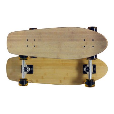 bamboo beach cruiser skateboard complete old school kicktail shape mini lonboard. Black Bedroom Furniture Sets. Home Design Ideas