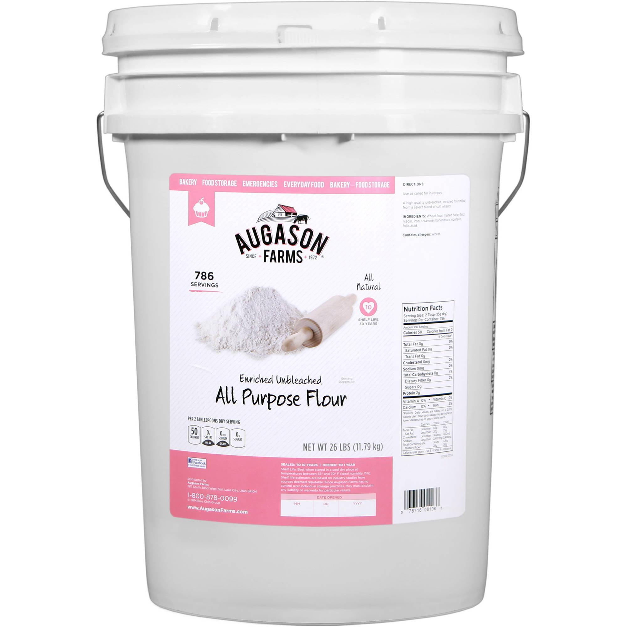Augason Farms Enriched Unbleached All Purpose Flour, 35 lbs