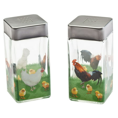 Rooster Salt and Pepper Shakers (All In One Salt And Pepper Mill)