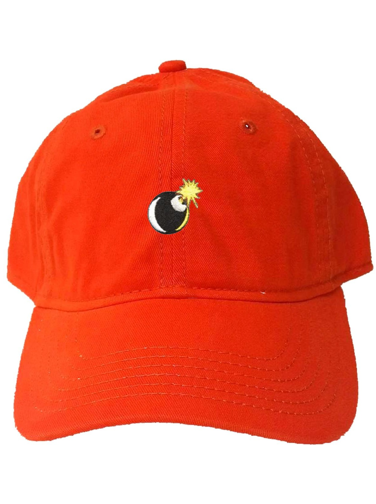 Go All Out Adult Peach Embroidered Dad Hat