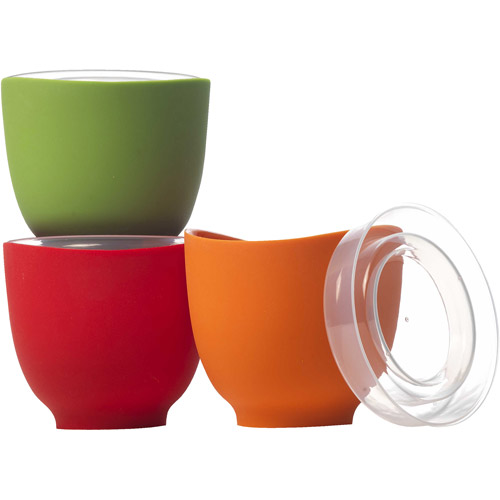 iSi 2-Cup Prep Bowls with Omni Directional Lids