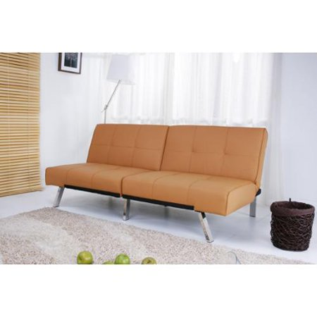 Sunqube Inc Jacksonville Camel Foldable Futon Sleeper Sofa Bed