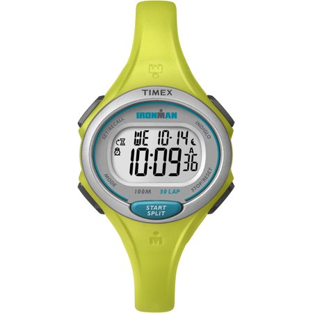 Women's Ironman Essential 30 Mid-Size Lime Resin Strap Watch