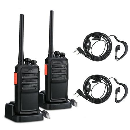 2 PCS Practical Hand-Funkgert Walkie Talkie A5 UHF CTCSS Schwarz