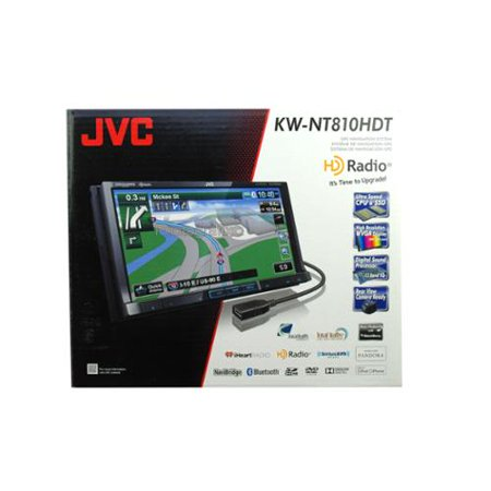 JVC KW-NT810HDT DVD/MP3/CD Player Built-in GPS Navigation HD Radio Bluetooth