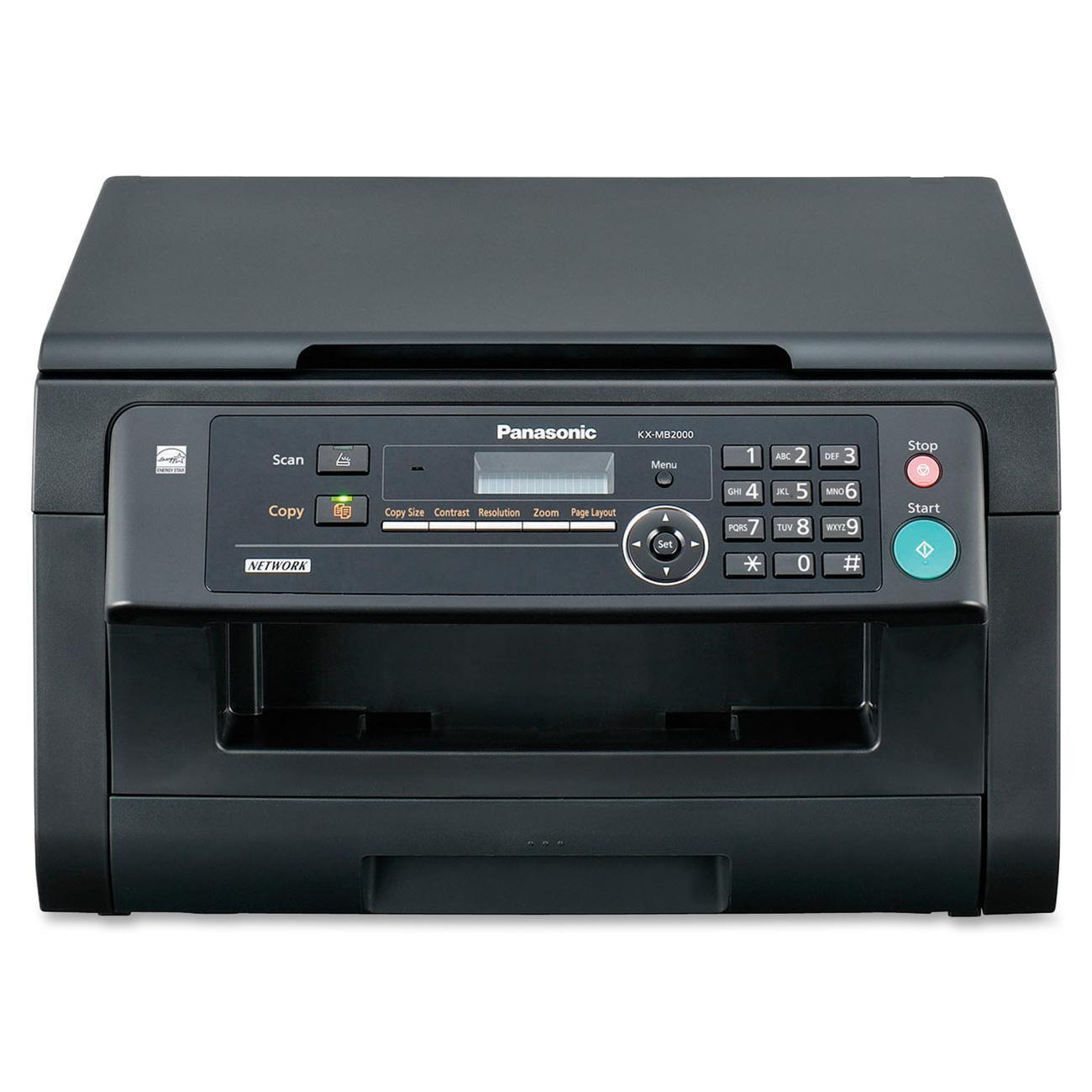 Panasonic, PANKXMB2000, Flatbed Laser Multifunction Printer, 1 Each, Black