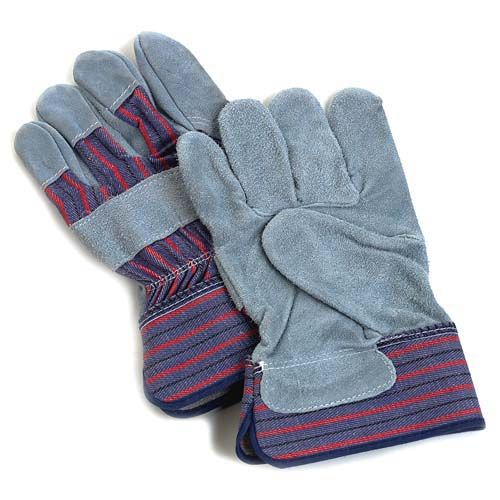 Midwest Gloves Suede Cowhide Leather Palm Glv - Lrg