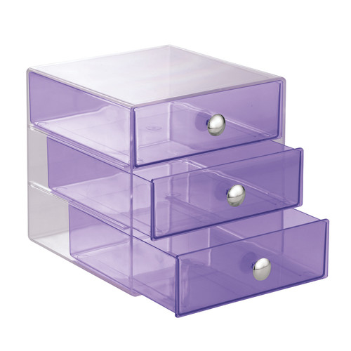 Interdesign Cosmetic And Jewelry Storage Vanity 3 Drawer