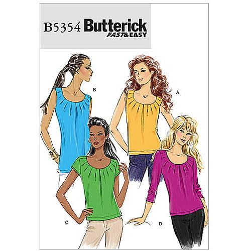 Butterick Pattern Misses' Top, EE (14, 16, 18, 20)