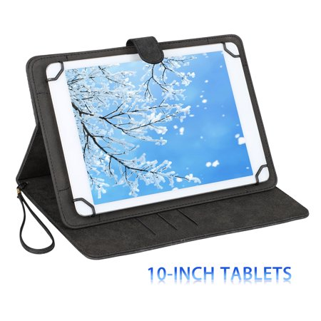 "Universal Folio 360° Rotating Case PU Leather Stand Cover for 10"" Tablet for iPad Pro 9.7, iPad Air/ Air 2, Samsung Galaxy Tab S2 9.7/ Tab S3 10/ Tab E 9.6/ Tab A 10.1"