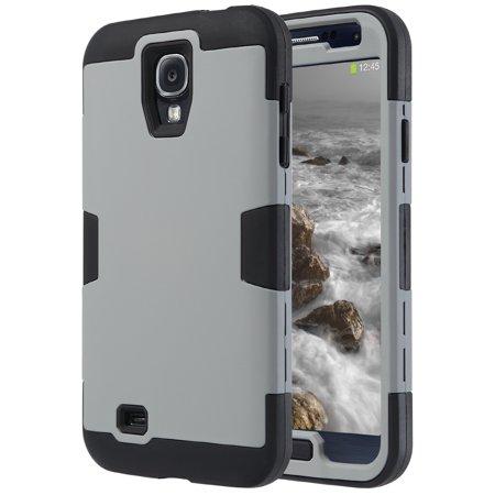 Galaxy S4 Case, ULAK Heavy Duty Shock Absorption Hybrid Rubber Plastic Impact Rugged Hard Case