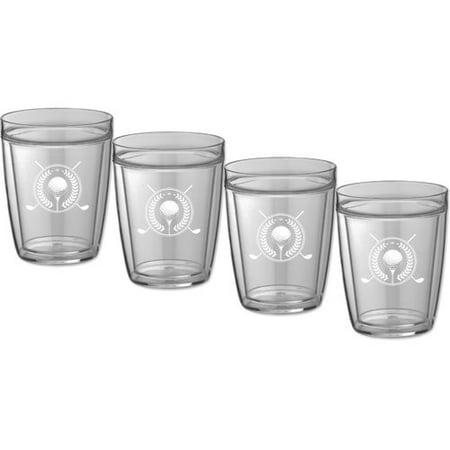 (Kraftware Kasualware Designs Golf 14 Oz. Crystal Every Day Glass (Set of 4))