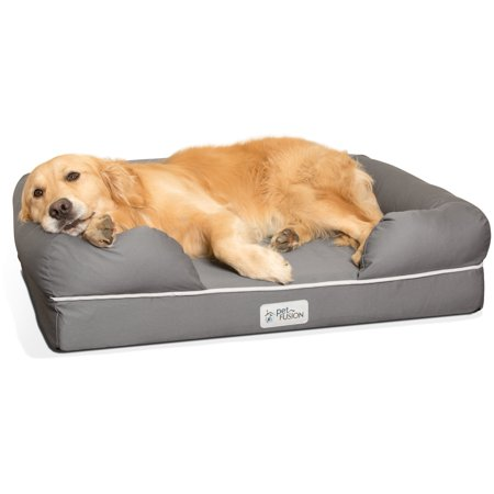 PetFusion Ultimate Memory Foam Lounger Dog Bed, Large, 36