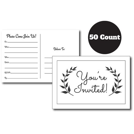 50 Simple & Modern Fill in Party Invitations for Any Occasion, Birthday Party Invitations, Baby Shower, Bridal Party, Retirement Party, Party Invitations for Girls, Boys, Men, Women, Graduation Party - Birthday Party For Boy