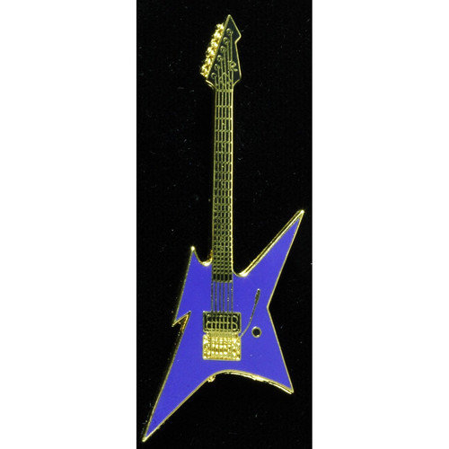 Harmony Jewelry BC Rich Ironbird Electric Guitar in Gold and Blue by Harmony Jewelry