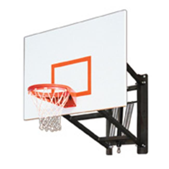 WallMonster Playground Steel Adjustable Wall Mounted Basketball System, Black