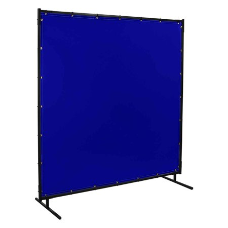 Steiner 525-6X6 Protect-O-Screen Classic with Blue Transparent Vinyl FR Welding Screen with Frame