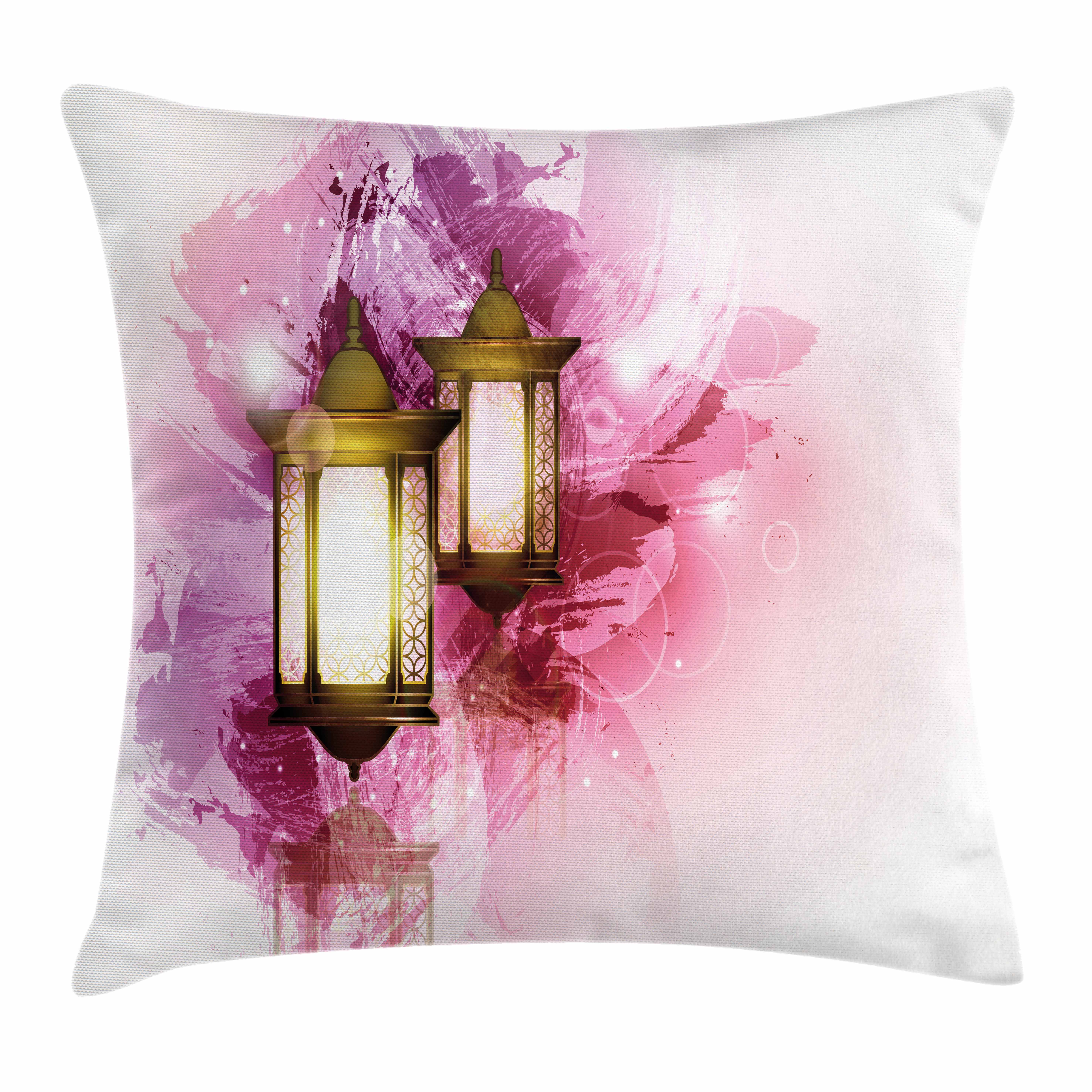 Lantern Throw Pillow Cushion Cover, Ramadan Themed Fanoos Festive Celebration... by Kozmos