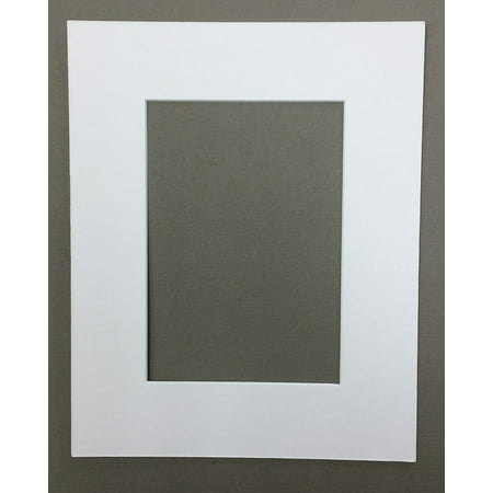 Mutt Mat - 16x20 White Picture Mats Mattes Matting with White Core Bevel Cut for 11x14 Pictures