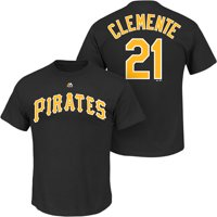 3d083df16 Product Image Roberto Clemente Pittsburgh Pirates Majestic Cooperstown  Player Name   Number T-Shirt - Black