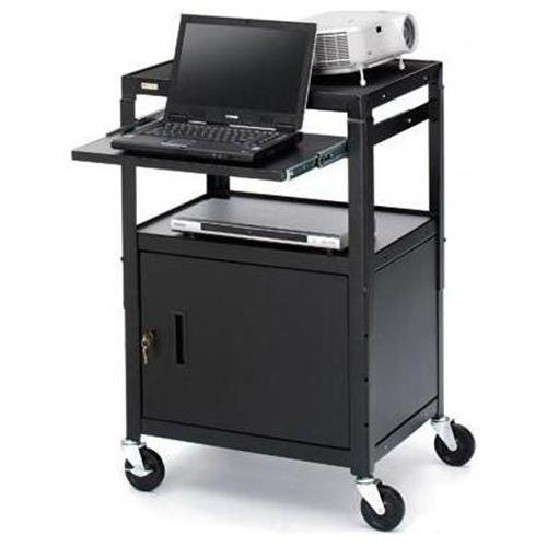 Bretford Ca2642ns Presentation Cart With Cabinet - Black