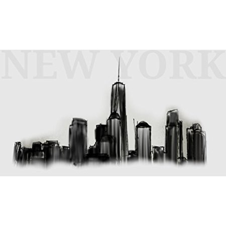New York Skyline Drawing Edible Cake Image Topper 1/4 - Halloween Cakes New York