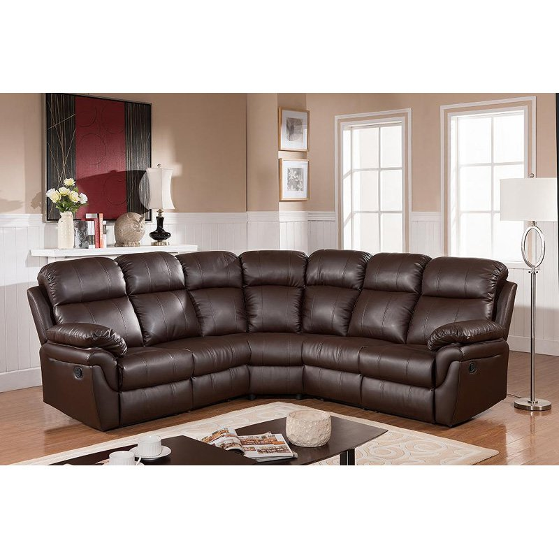 Frankfurt Sectional Sofa with Two Recliners by Milton Greens Stars Inc.