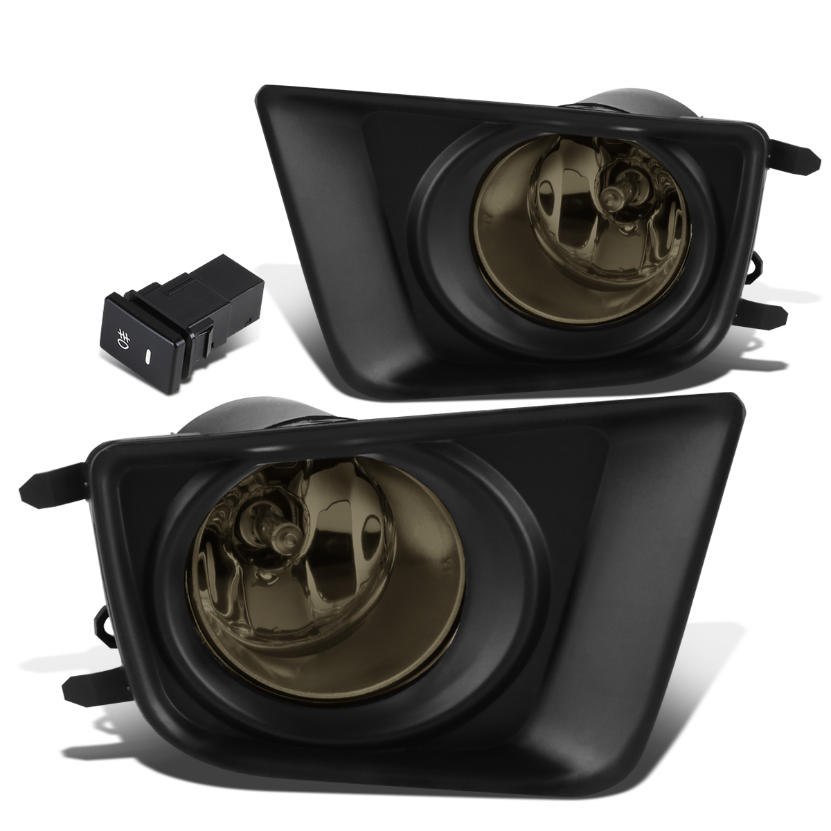 For 12-15 Tacoma Pair of Driving Bumper Fog Lights + Wiring Harness + Switch (Smoked Lens) 13 14 15