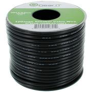 GearIt 12-Gauge Speaker Wire (100'/30.48m), Black, Spool Design