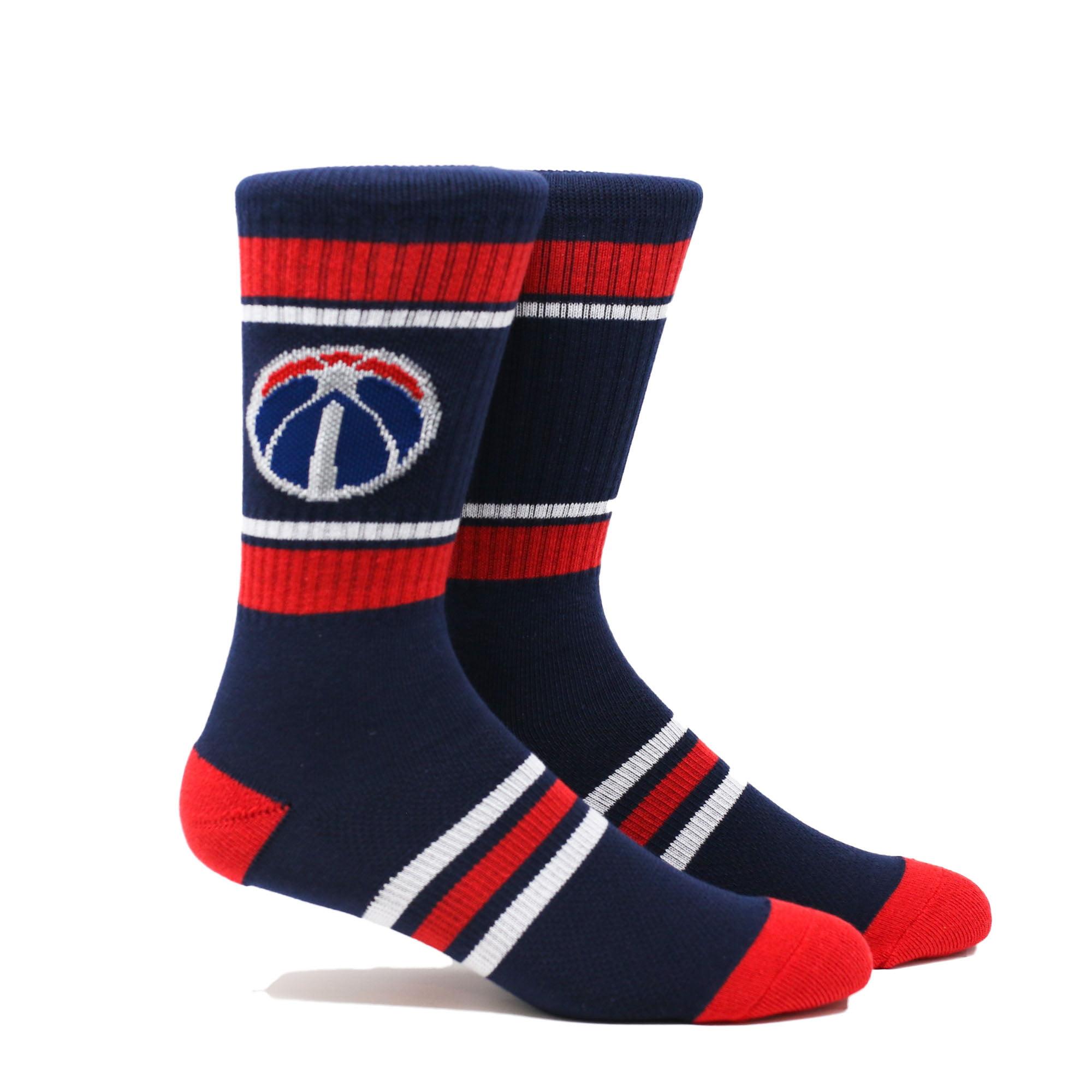 Washington Wizards Stripe Crew Socks - Navy - L