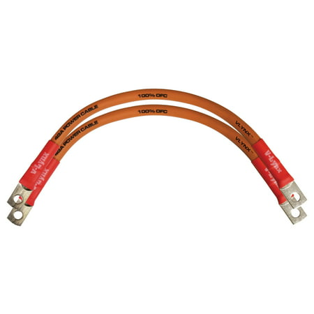 QTY 2 Battery Cables VBL4-O 4 Gauge AWG 9