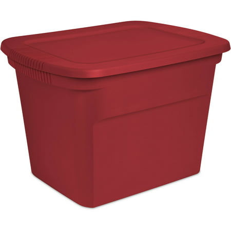 Sterilite 18gal Tote -Really Red