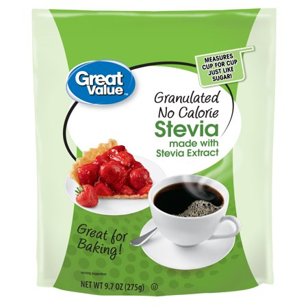 - (2 Pack) Great Value Granulated Stevia Sweetener, No Calorie, 9.7 oz