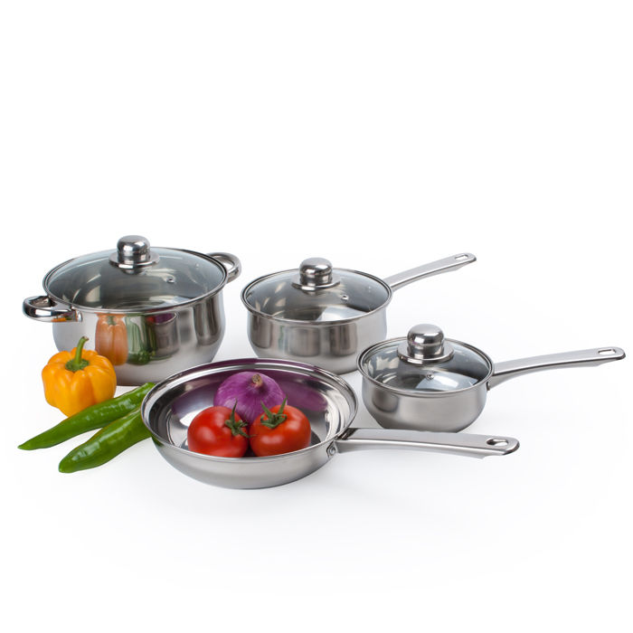Alpine Cuisine 7-Piece Stainless Steel Cookware Set by Alpine Cuisine