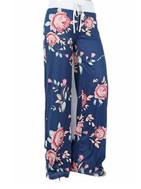 a6f1f73795 Product Image Women Print Loose Casual Floral Drawstring Flare Pants