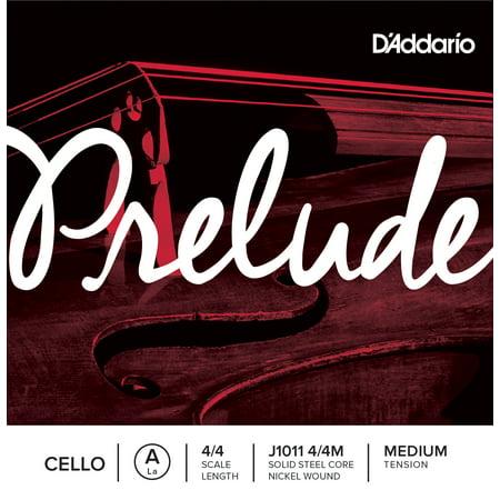 D'Addario Prelude Cello Single A String, 4/4 Scale, Medium (Daddario Single)