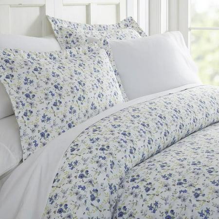 Noble Linens Premium Ultra Soft 3 Piece Blossoms Print Duvet Cover (Print Duvet)