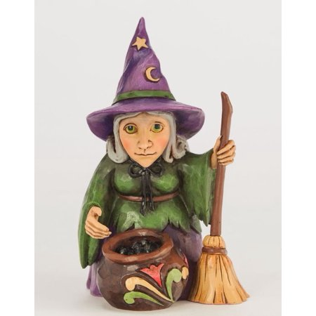 Jim Shore Witch with Cauldron Halloween Miniature Figurine 4047845 New Mini - Jim Shore Halloween Figurines