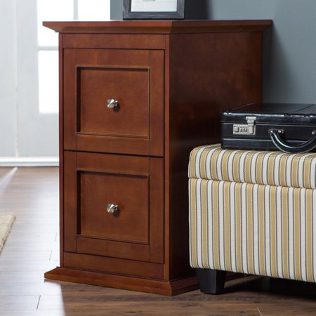 Belham Living Hampton 2-Drawer Wood File Cabinet - Cherry (Hampton Bay Bath Cabinet)