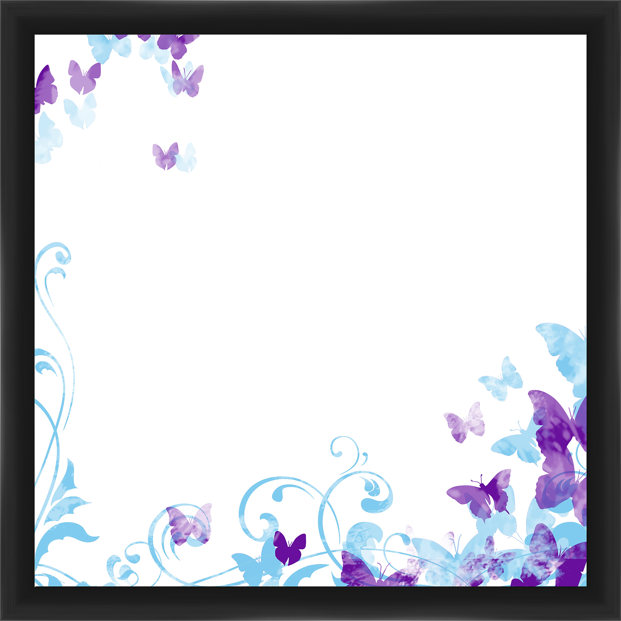 Butterfly Black Memoboard