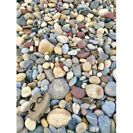 Seaside Rocks - Peel-n-Stick Poster of Rocks Rock Beach Pebble Stone Seaside Pebbles Poster 24x16 Adhesive Sticker Poster Print