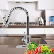 Pull-Out Spout Kitchen Sink Faucet,360° Swivel Single Handle Faucet with Pull Down Sprayer for Kitchen