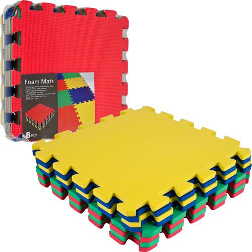 TG Multi-Color EVA Foam Exercise Mat, 8-Piece