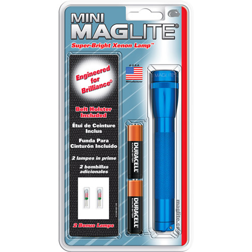Mini MagLite 2-Cell AA Bulb Pack Flashlight, Blue