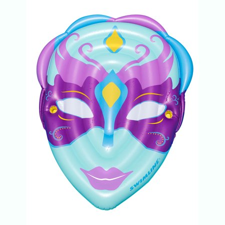 Mardi Gras Floats Ideas (Swimline Inflatable Mardi Gras Mask Floating Raft Mat for Swimming Pools,)