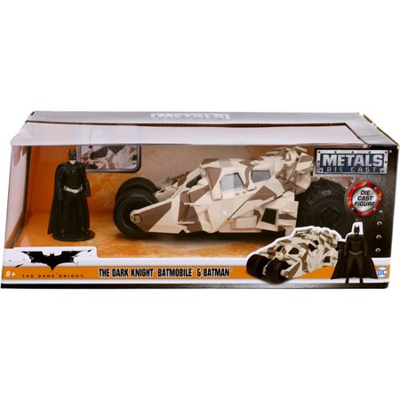 Batmobile Batman (DC Comics The Dark Knight Rises Tumbler Batmobile Die-cast Car, 1:24Scale Vehicle Camo & 2.75 Batman Collectible)