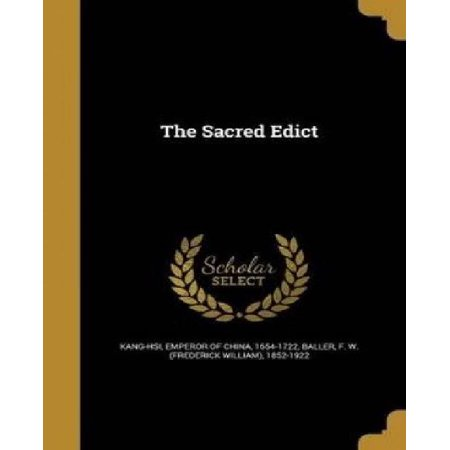 The Sacred Edict - image 1 of 1