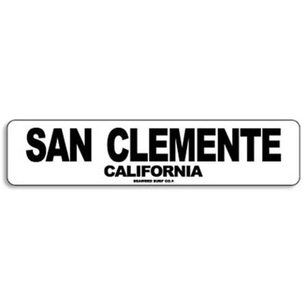 Paradise Surf Sign - Seaweed Surf Co AA75 4X18 Aluminum Sign San Clemente